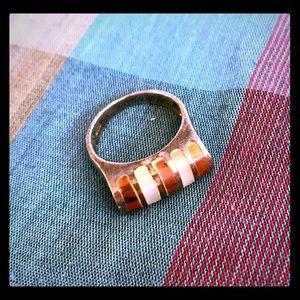 Gemstone Inlayed Ring